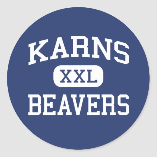 Karns Beavers Middle Knoxville Tennessee Stickers