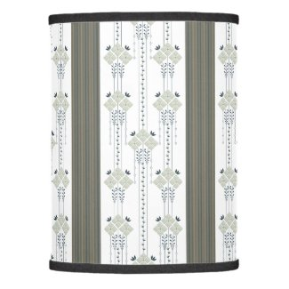 Karo flowers and curls pattern lamp shade