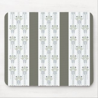 Karo flowers and curls pattern mouse pad