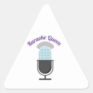 Karoke Queen Triangle Sticker