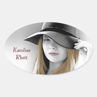 Karoline Rhett Oval Sticker