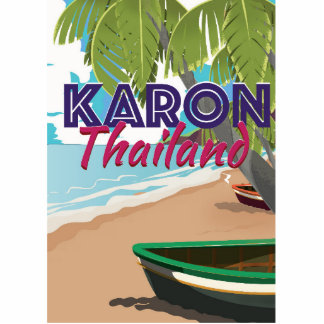 Karon thailand cartoon travel poster. statuette