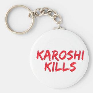 Karoshi Kills Basic Round Button Keychain