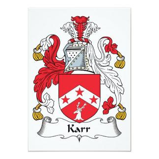Karr Family Crest Invitations