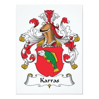 "Karras Family Crest 6.5"" X 8.75"" Invitation Card"