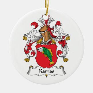 Karras Family Crest Christmas Tree Ornaments