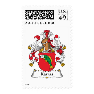 Karras Family Crest Postage Stamp