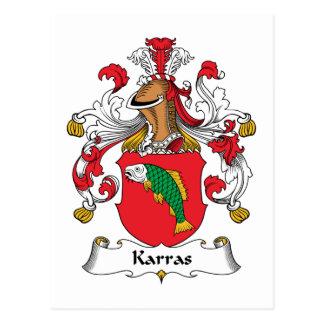 Karras Family Crest Postcard