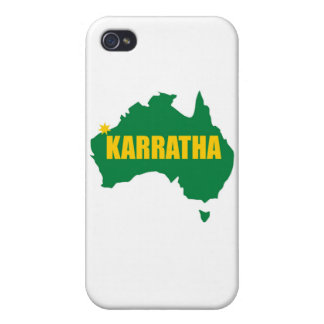 Karratha Green and Gold Map Cases For iPhone 4