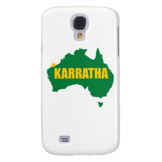 Karratha Green and Gold Map Samsung Galaxy S4 Cover