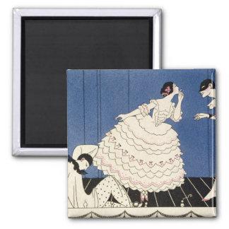 Karsavina, 1914 (pochoir print) 2 inch square magnet