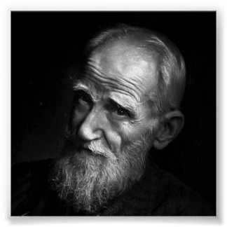 Karsh Photograph of George Bernard Shaw (1943) Poster