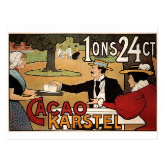 Karstel Cocoa 1897  By Johann Georg van Caspel Postcard