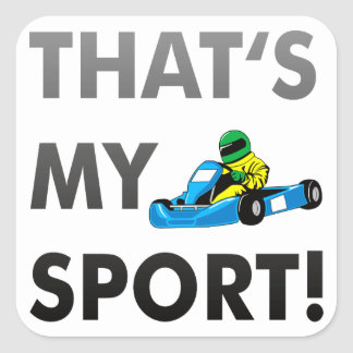 kart/go cart - that's my sport square stickers