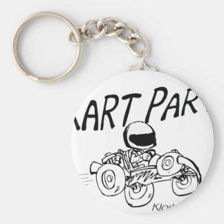Kart Party Black Logo Keychain