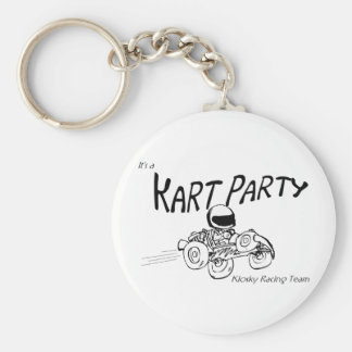 Kart Party Black Logo Key Chain