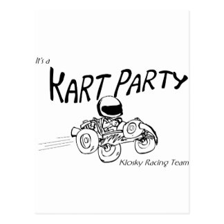 Kart Party Black Logo Post Cards
