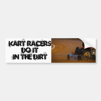 Kart que compite con a la pegatina para el paracho pegatina para auto