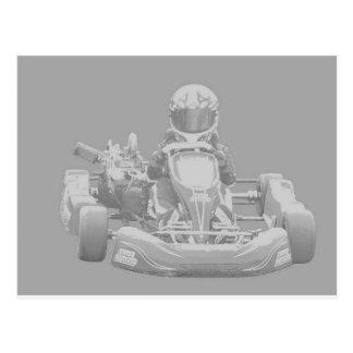 Kart Racer in gray Post Card