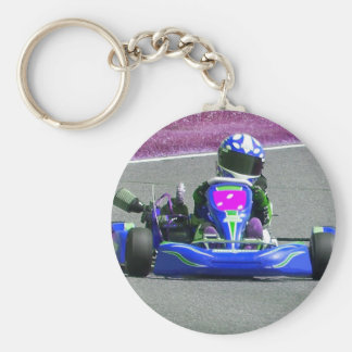 Kart Racer Inverted Color Keychain