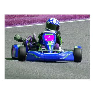 Kart Racer Inverted Color Postcard