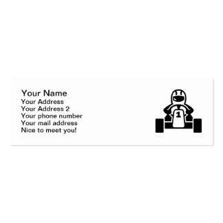 Kart racer mini business card