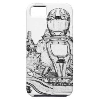 Kart Racer Pencil Sketch iPhone SE/5/5s Case