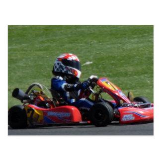 Kart Racer Side View Post Cards
