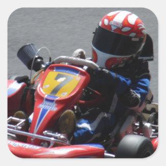Kart Racer Square Sticker