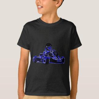 Kart Racing Blue and White T-Shirt