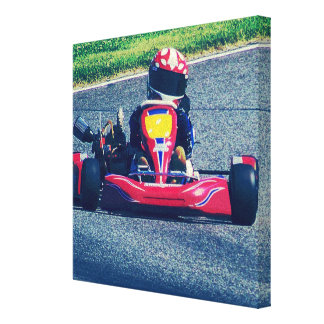 Kart Racing Stretched Canvas Prints