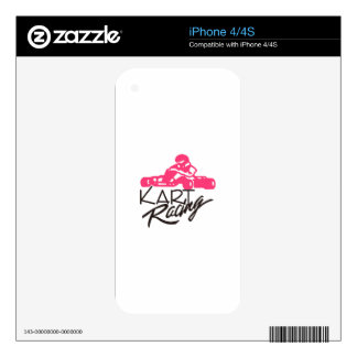 Kart Racing Decal For iPhone 4S