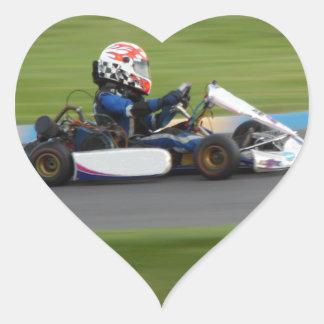 Kart Racing Heart Sticker