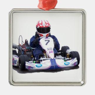 Kart Racing Metal Ornament
