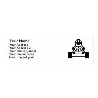 Kart racing mini business card