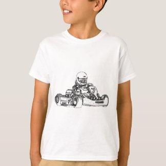 Kart Racing Pencil Sketch T-Shirt