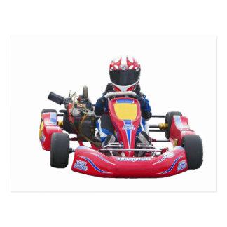 Kart Racing Post Card