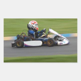 Kart Racing Rectangular Sticker