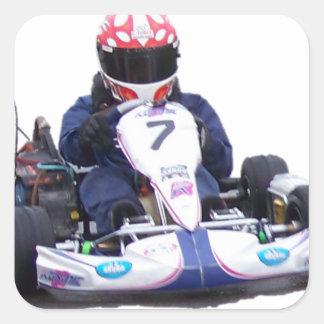 Kart Racing Square Sticker