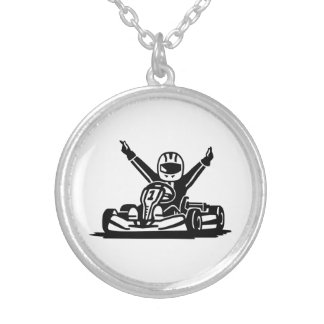 Kart winner silver plated necklace