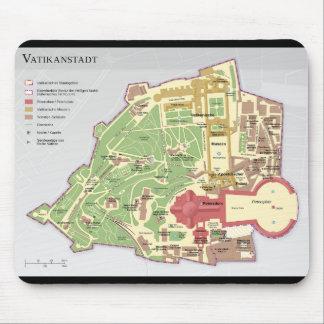 Karte der Vatikanstadt Vatican City Diagram Mouse Pad