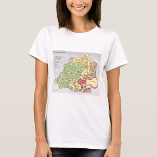 Karte der Vatikanstadt Vatican City Diagram T-Shirt
