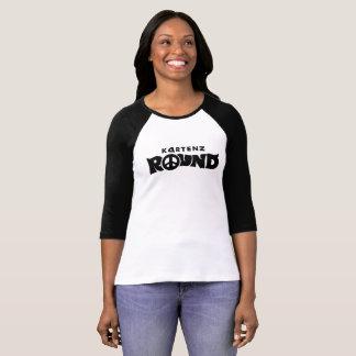KARTENZ ROUND Women's Raglan Black & White T-Shirt