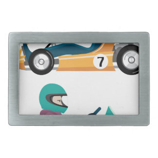 Karting Go Cart race vehicle with a driver Belt Buckle