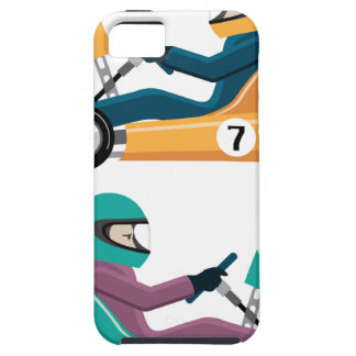 Karting Go Cart race vehicle with a driver iPhone SE/5/5s Case