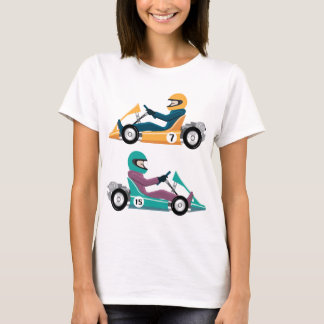 Karting Go Cart race vehicle with a driver T-Shirt