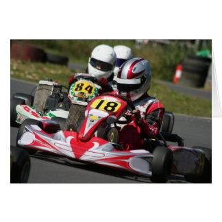 Karting karts minimax motor sport action racing card