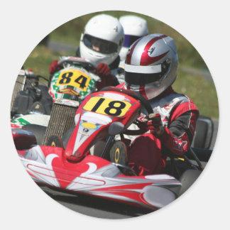 Karting karts minimax motor sport action racing classic round sticker