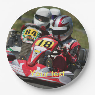 Karting party paper plates Go Karts