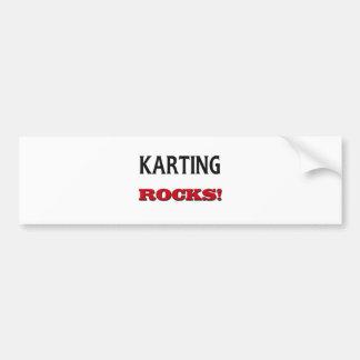 Karting Rocks Car Bumper Sticker